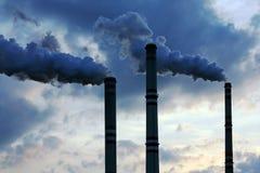 Industriële verontreiniging Stock Afbeelding