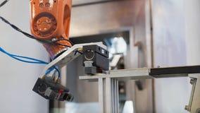 Industriële vervaardigingsfabriek - robotachtige handwerktuigmachine royalty-vrije stock afbeeldingen