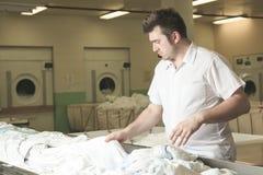 Industriële wasmachines stock foto's