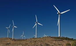 Industriële windinstallatie Ecologische energie Stock Foto's