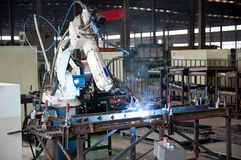 Industriële Workshop Stock Foto