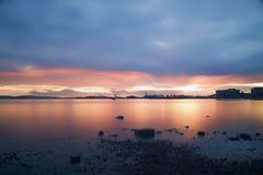 Industriële Zonsondergang Stock Afbeelding