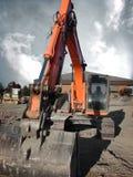 Industriële zware apparatuur machinestractor Stock Fotografie