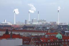 Industri i Danmark Royaltyfria Foton