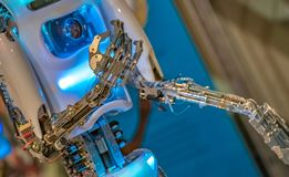 Industri?le het Mechanismetechnologie van de Robothand royalty-vrije stock foto