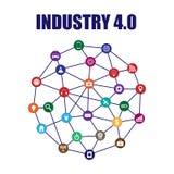 industri 4 0 och internet av sakerillustrationen Royaltyfria Foton