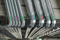 industri pipes röret Arkivfoton