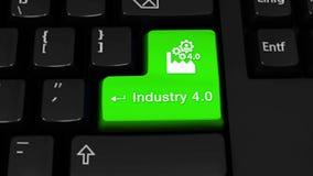 38 industri 4 0 rotationsrörelse på knappen för datortangentbord vektor illustrationer