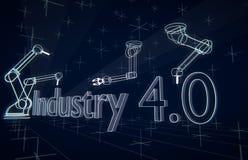 Industria 4 ilustración del vector
