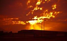 Industria al tramonto Fotografie Stock Libere da Diritti