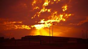 Industria al tramonto Fotografia Stock Libera da Diritti