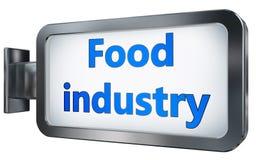 Industria alimentare sul fondo del tabellone per le affissioni illustrazione vettoriale