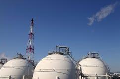Industria chimica del serbatoio Fotografia Stock