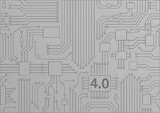 industria 4 0 concetti come fondo con l'illustrazione del circuito/CPU royalty illustrazione gratis