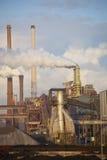 Industria de acero pesada en la fábrica de acero Fotos de archivo libres de regalías