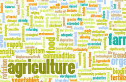 Industria de la agricultura ilustración del vector