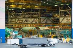 Industria de la asamblea de la fabricación del aeroplano foto de archivo libre de regalías