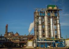 Industria de la caña de azúcar de la fábrica imagen de archivo libre de regalías