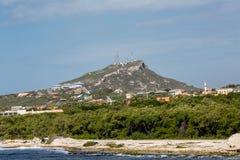 Industria de la cima de la montaña en Curaçao Fotografía de archivo