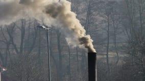 Industria de la fábrica, contaminación atmosférica almacen de video