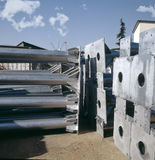 Industria de la galvanización Imagen de archivo