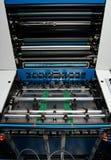 Industria de la impresión - máquina de impresión en offset imagen de archivo libre de regalías