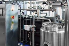 Industria de la leche Foto de archivo libre de regalías