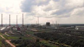 Industria de la planta de la refinería de petróleo, fábrica de la refinería, acero del tanque de almacenamiento de aceite y de la metrajes