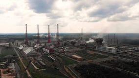 Industria de la planta de la refinería de petróleo, fábrica de la refinería, acero del tanque de almacenamiento de aceite y de la almacen de metraje de vídeo