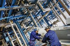 Industria de la refinería del poder y de la energía Foto de archivo libre de regalías
