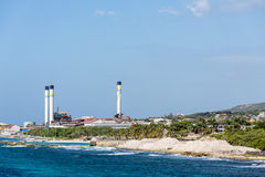 Industria de petróleo de Curaçao Fotografía de archivo libre de regalías