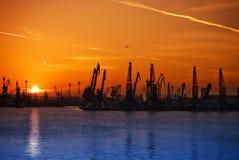 Industria de puesta del sol 2 Foto de archivo