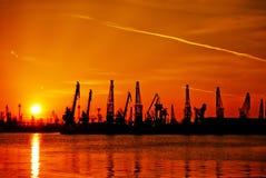 Industria de puesta del sol Imagenes de archivo