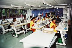 Industria de ropa en Bangladesh imágenes de archivo libres de regalías