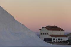 Industria de sal marina Fotografía de archivo libre de regalías