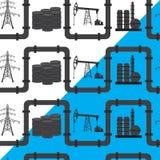 Industria del aceite, del gas y de la energía eléctrica Backgroun inconsútil del modelo Fotografía de archivo
