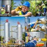 Industria del gas e del petrolio immagini stock libere da diritti