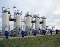 Industria del gas naturale e del petrolio Immagine Stock Libera da Diritti
