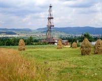 Industria del gas naturale e del petrolio Fotografia Stock Libera da Diritti