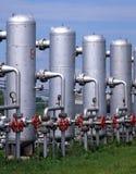 Industria del gas naturale e del petrolio fotografia stock