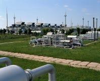 Industria del gas naturale e del petrolio Fotografie Stock Libere da Diritti