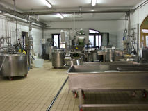 Industria del latte Fotografie Stock