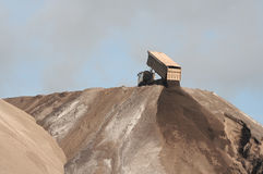 Industria del mineral de hierro foto de archivo libre de regalías