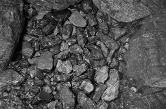 Industria del nero della pietra del fondo del carbone Immagine Stock Libera da Diritti