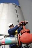 Industria del petrolio e del gas di ingegneria Fotografie Stock Libere da Diritti