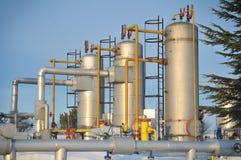 Industria del petrolio e del gas di inverno immagine stock libera da diritti
