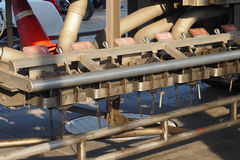 Industria del transporte del camión del servicio del aceite de la válvula Imagen de archivo