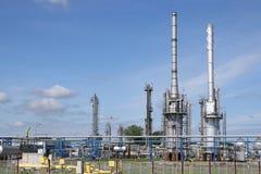 Industria dell'olio vegetale di centrale petrolchimica Fotografie Stock Libere da Diritti