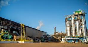 Industria della canna da zucchero della fabbrica fotografia stock libera da diritti