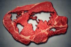 Industria della carne e produzione globali del manzo del mondo fotografia stock